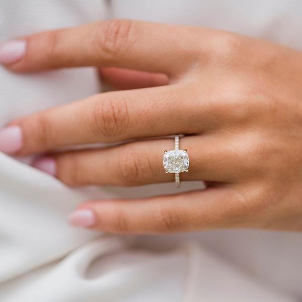 The Sutton Ring (2.8 Carat) #cushionengagementring