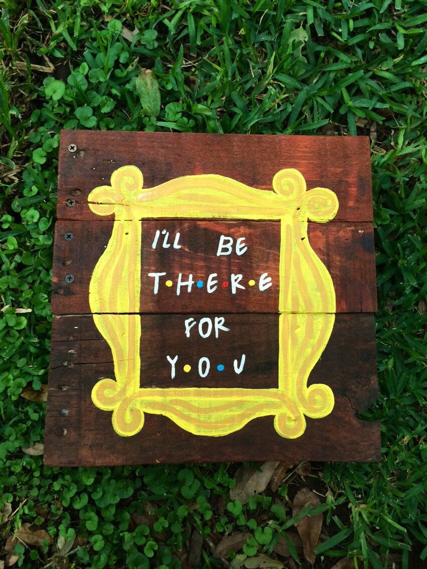 Friends TV show sign- I\'ll be there for you- Monica Friends peephole ...