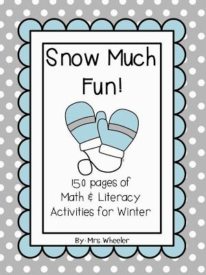 Tons of winter-themed center activities for first grade! | 1st Grade ...
