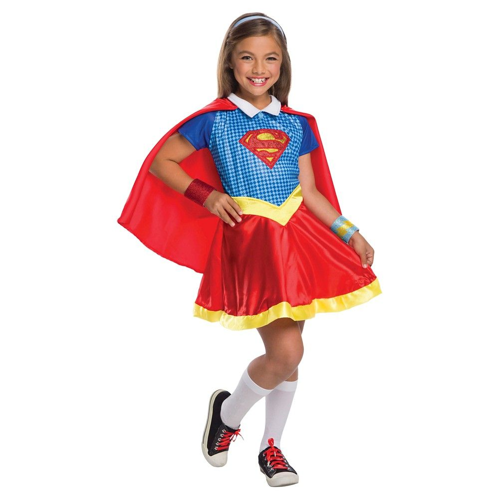 Supergirl Girls' Costume DC Superhero Girls - Large (10-12), Girl's, Size: L(10-12), Multi-Colored