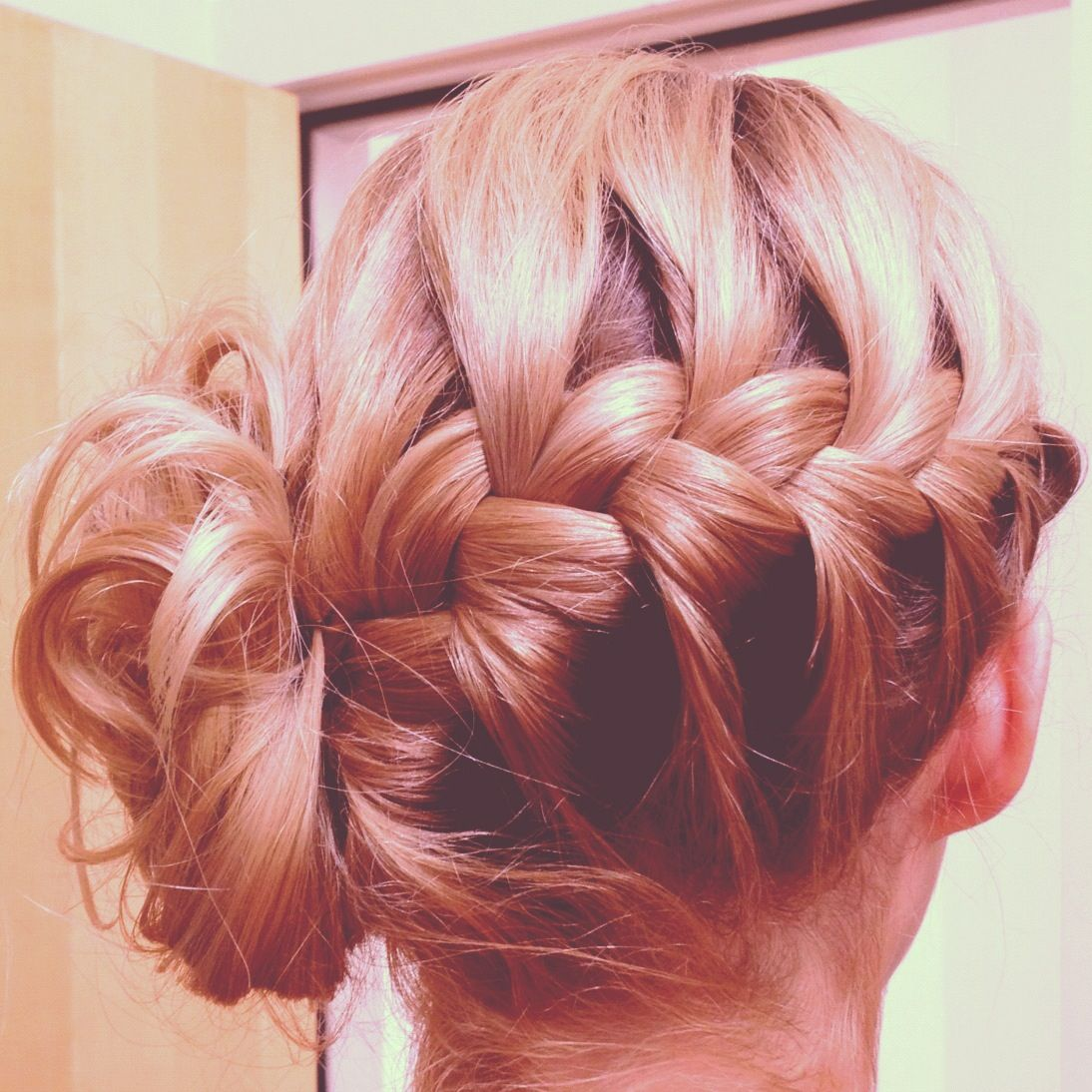 Bridesmaid hair. French braid updo | Weddings and parties ...