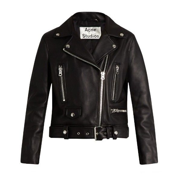 Acne Studios Mock leather biker jacket (25.220 ARS) ❤ liked on Polyvore featuring outerwear, jackets, coats & jackets, coats, black, leather jackets, motorcycle jacket, slim fit jackets, leather moto jackets and genuine leather jackets