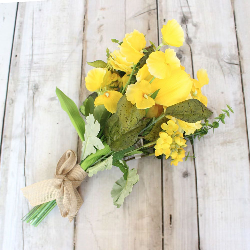 Ranunculustulipsweet pea silk bouquet in yellow 15in tall ranunculustulipsweet pea silk bouquet in yellow 15in tall looking for yellow wedding flowers check out hassle free silk flowers and faux bridal mightylinksfo Gallery