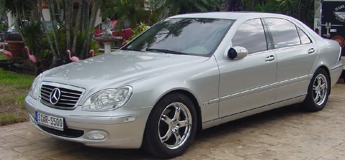 Silver 2005 Mercedes Benz w220 front