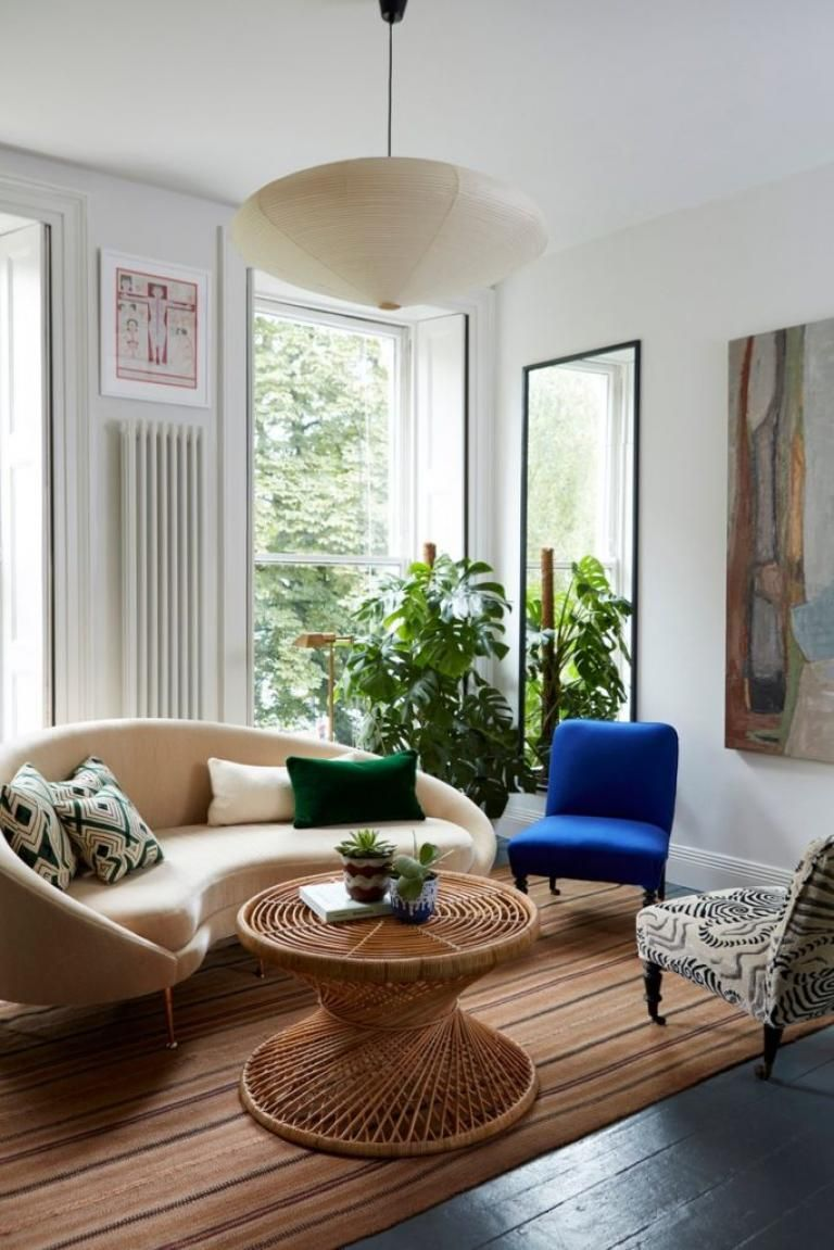 Living Room Design Round Shape For Elegant Curved Interior