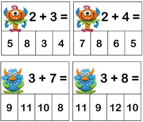 Trouver Le Résultat Dadditions Education Math Preschool Math