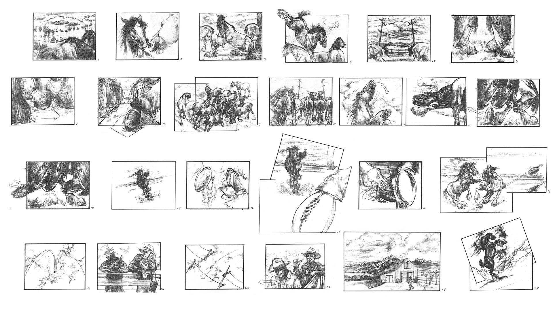 Superbowl Commercial Storyboard By Terryl Whitlatch