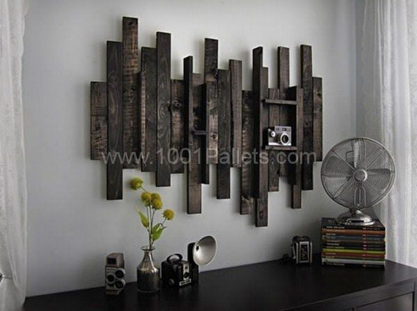Wall Decor Idea From Pallet Wood Pallet Wall Decor Pallet Home Decor Rustic Wall Art