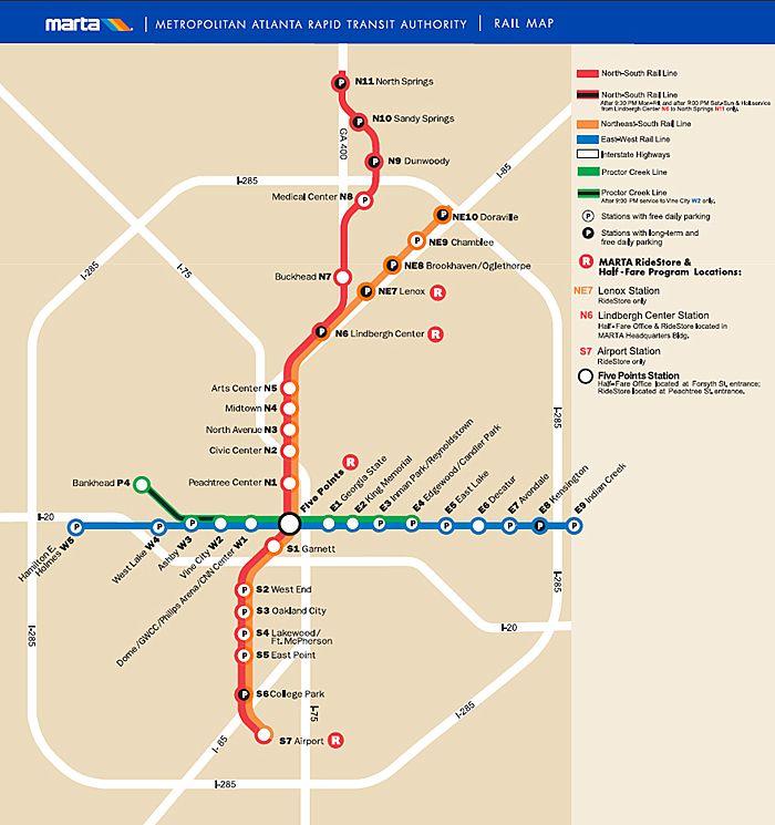 Hopstop Subway Map.Marta Subway Map International Map