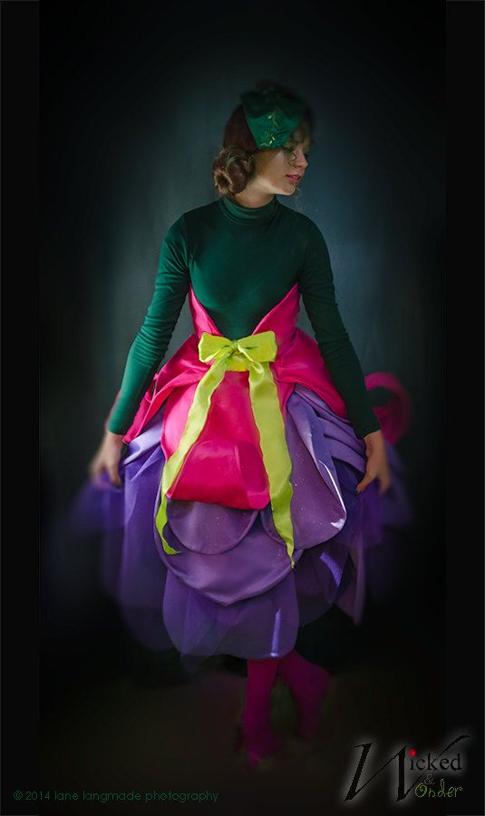 076ad1d39 Girls Fairy Costume or Elf Costume, Flower Costume, Fuchsia with ...