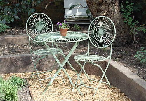 Folding Garden Furniture Set Mint patio bistro set bistro pinterest bistro set gardens and mint patio bistro set workwithnaturefo