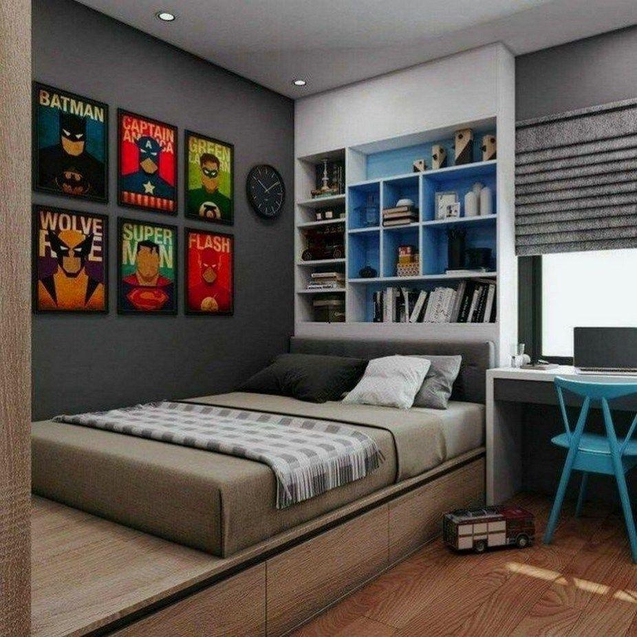 60 Amazing Cool Bedroom Ideas For Teenage Guys Small Rooms Topzdesign Com Unique Bedroom Design Boy Bedroom Design Bedroom Design