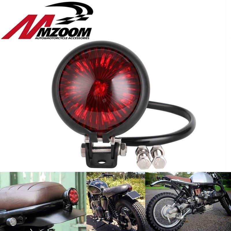 LED Red Rear Tail Brake Stop Light Lamp For Motorcycle Cafe Racer Chopper Bobber