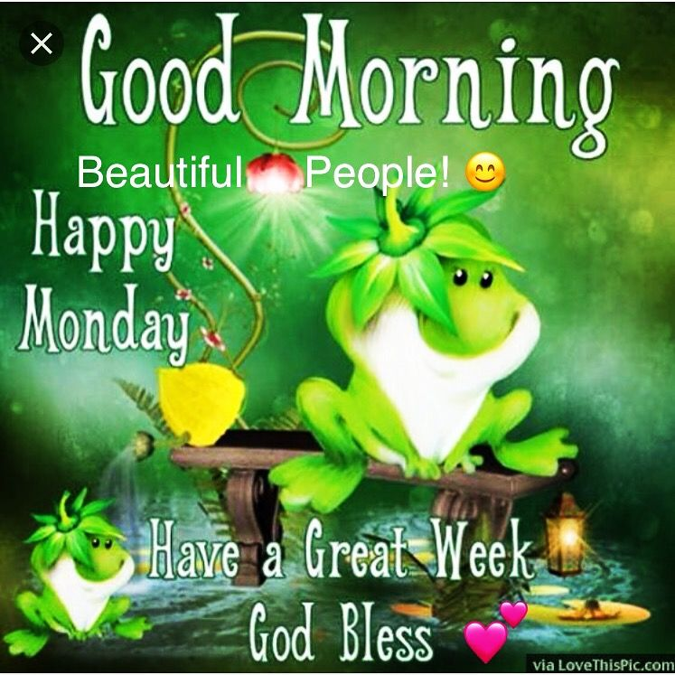 Good Morning and Happy Monday Beautiful People! 😊 Have a Great Week Ahead  God Bless! 💕#hap… | Good morning happy monday, Happy monday pictures, Good  morning happy