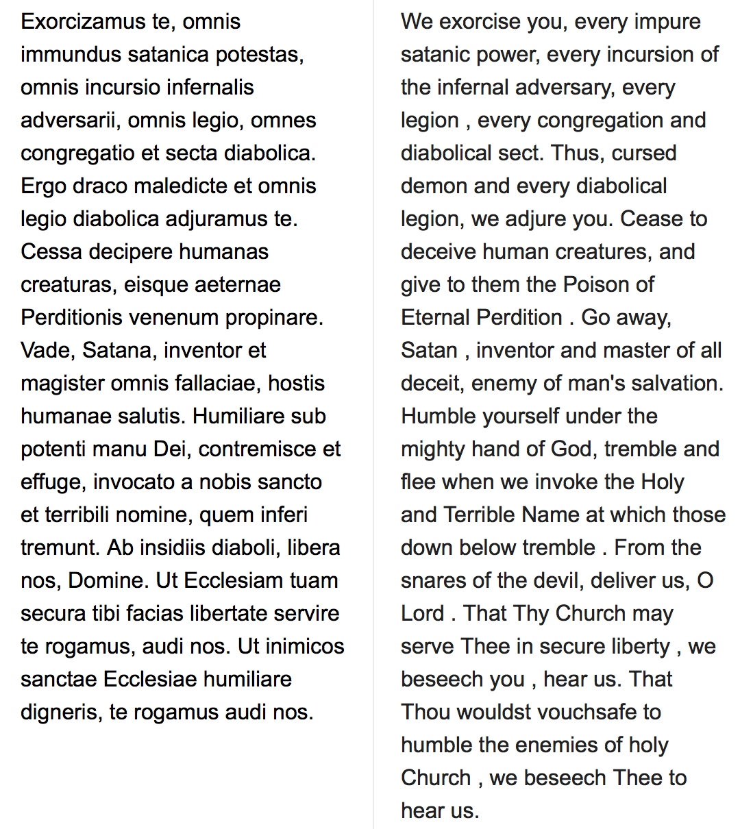 Exorcism prayer in Latin and English | Supernatural