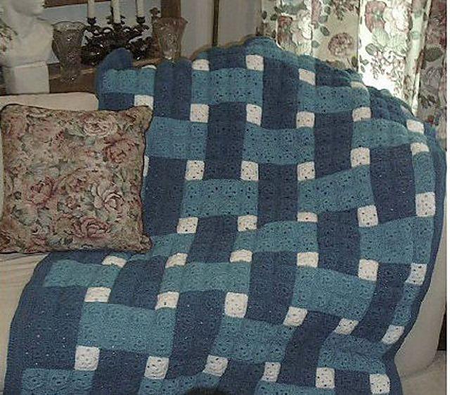 Ravelry: Woven Blocks Crochet Quilt by C.L. Halvorson   crochet ...