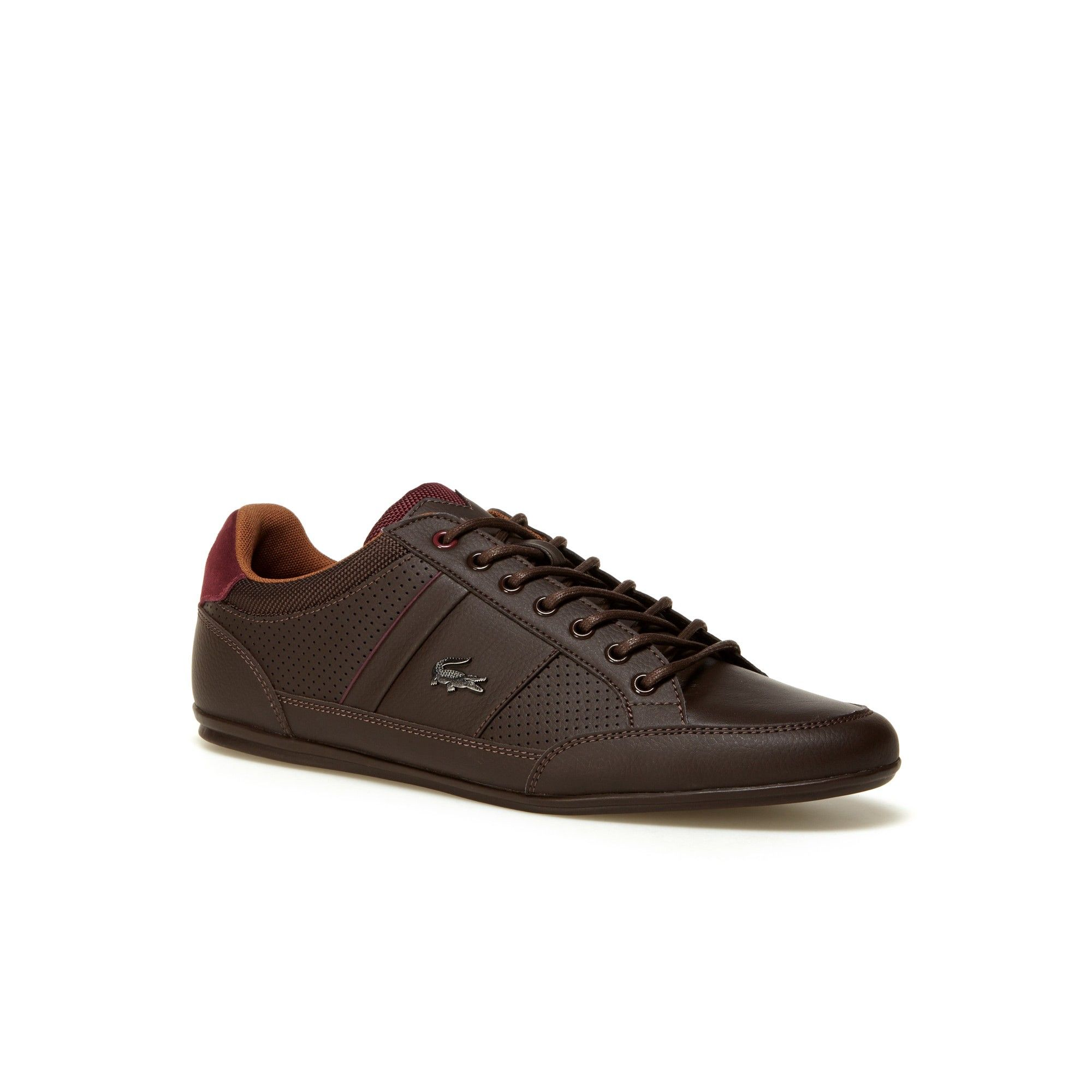 bc3d73f50 LACOSTE Men s Chaymon Leather Sneakers - dark brown tan.  lacoste  shoes