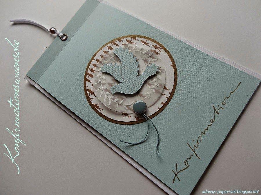 jenny's papierwelt: karte ~ konfirmationswünsche