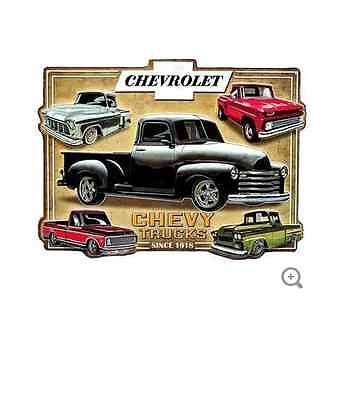 Take a trip down memory lane with this vintage Chevy Trucks Embossed