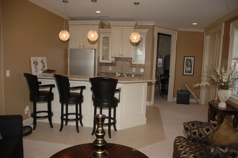layout of wet bar