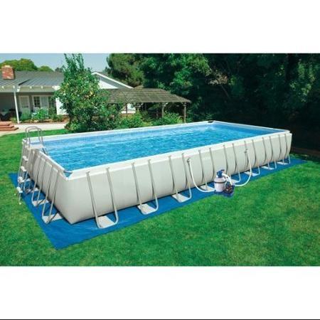Intex 32 X 16 X 52 Ultra Frame Above Ground Swimming Pool Walmart Com Rectangular Swimming Pools Rectangular Pool Swimming Pools