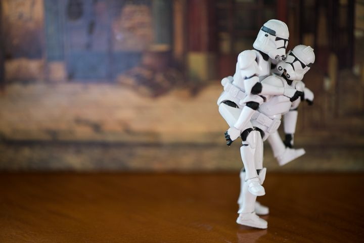Stormtrooper Engagement Session - Captured by Northern NJ Wedding Photographer Ben Lau.