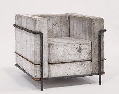 A Version Of Le Corbusier S Grand Comfort Chair In Concrete Steel By Stefan Zwicky Concrete Furniture Design Concrete Furniture Furniture Design