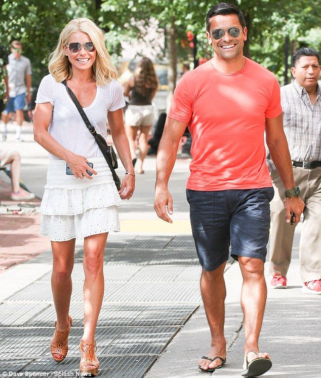 Kelly Ripa And Husband Mark Consuelos, Both 42, Look Like