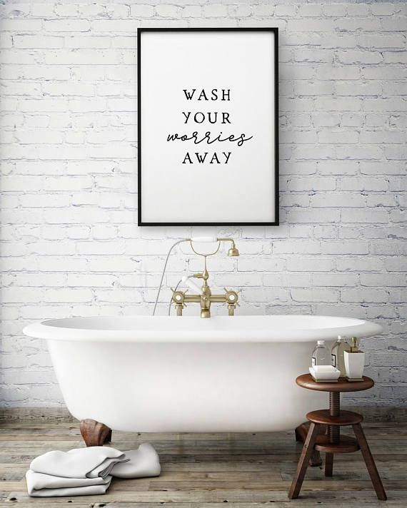 Farmhouse Bathroom Guest Bathroom Decor Bathroom Art Prints Bathroom Prints