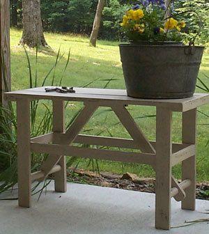 Primitive Washboard Bucket Bench Pattern Plan WN106