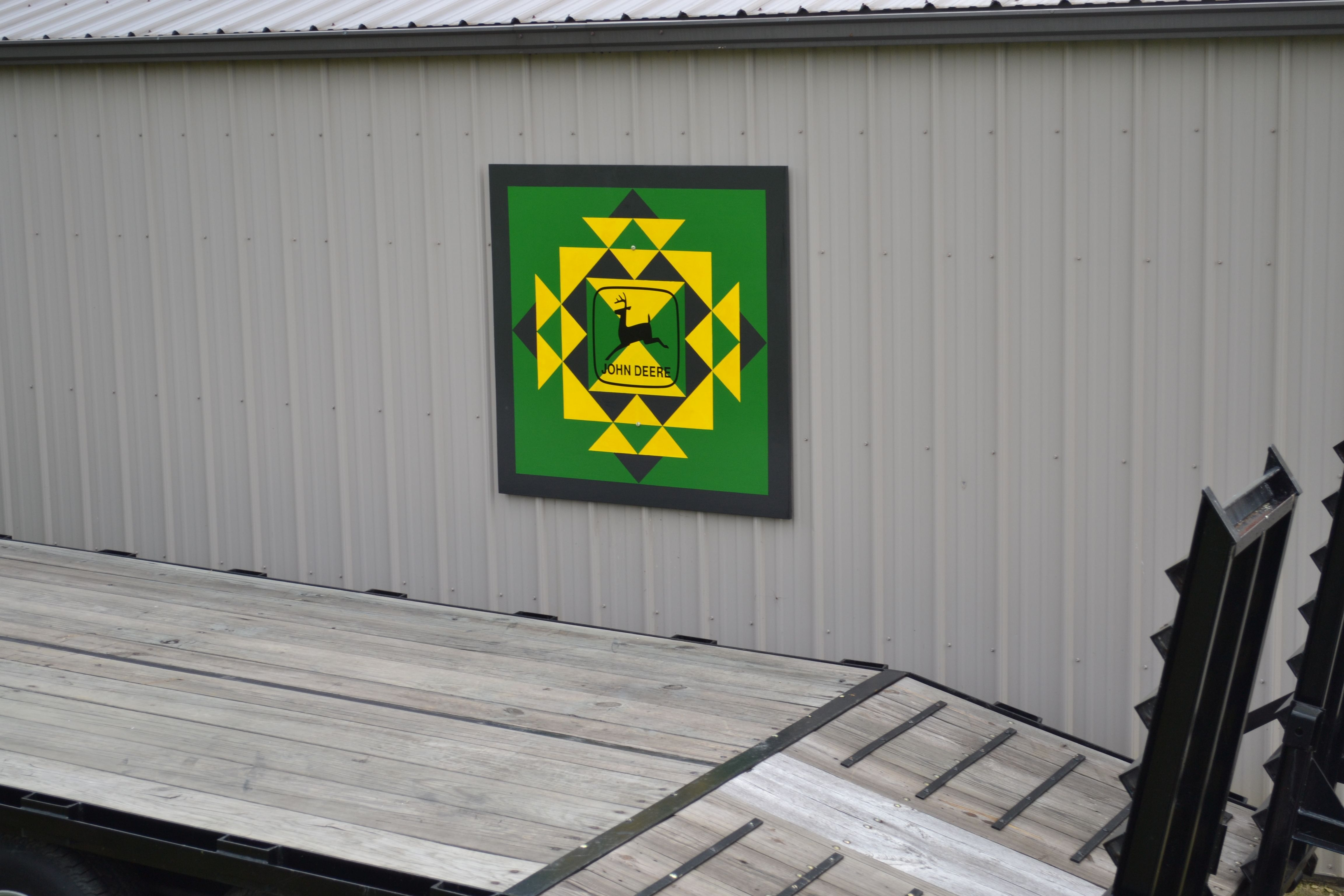 Outdoor 4x4 john deere quilt i painted for our barn crazy gal outdoor 4x4 john deere quilt i painted for our barn crazy gal barn quilts biocorpaavc Images
