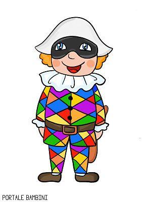 Arlecchino la maschera disegni coloring pages for Arlecchino disegno da stampare