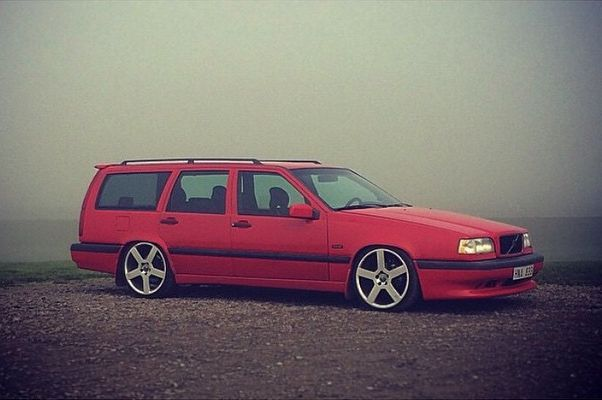 Lowered Red 850r Wagon Volvo 850