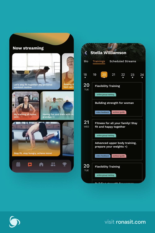 Pin On Fitness App Ui Ux Design