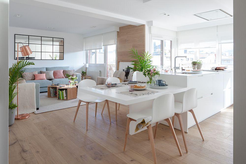 Cuadrando los espacios en 2019 comedores cocinas for Mesas cuadradas para comedor