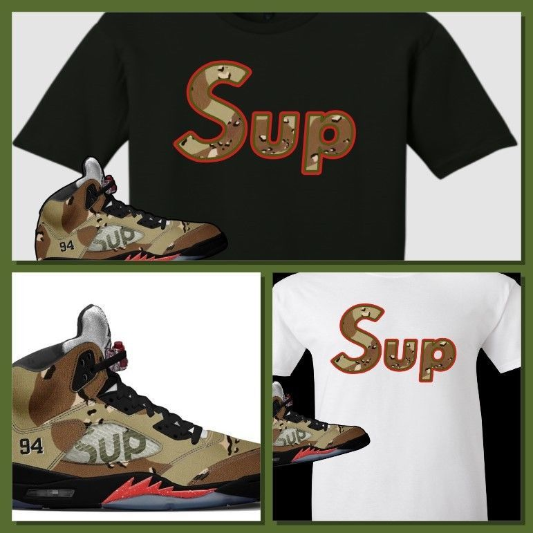 cf23492fd0d5 EXCLUSIVE TEE SHIRT TO MATCH THE SUPREME AIR JORDAN 5 COLLAB CAMO S! SUP  CAMO  COPEMCUSTOMS  GraphicTee