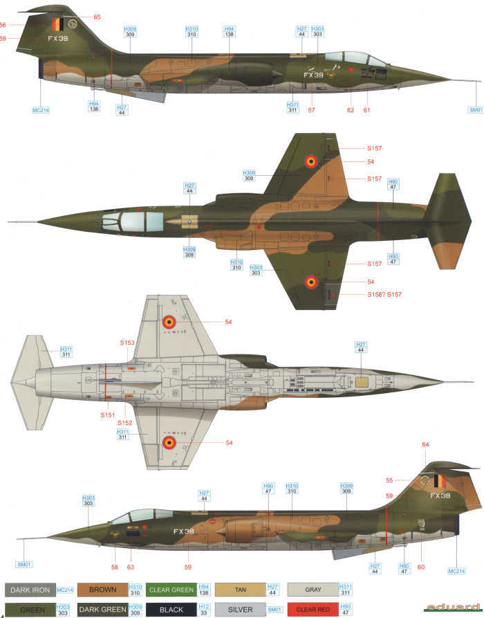 F-104G Starfighter Belgian AF Color Profile and Paint Guide Added ...