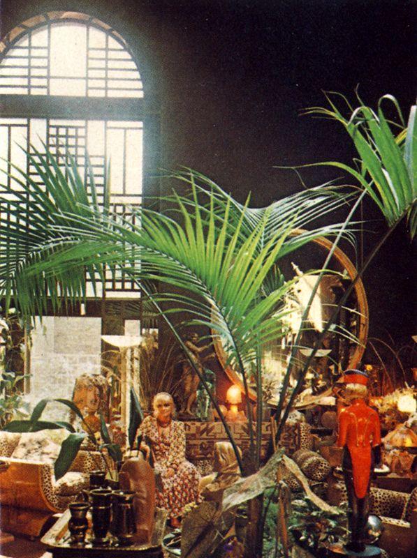 Biba's Barbara Hulanicki in her home studio. James Mortimer for Vogue 1975