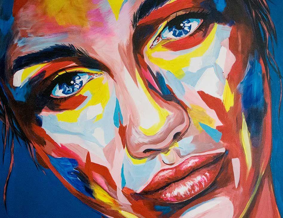 carographic malerei acryl portrait aquarell gesichter carolyn mielke gesicht gemalde leinwand malen abstrakte kunst bunte bilder