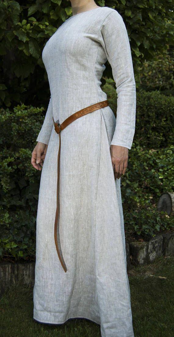 7f787e4be4 Medieval Linen Dress