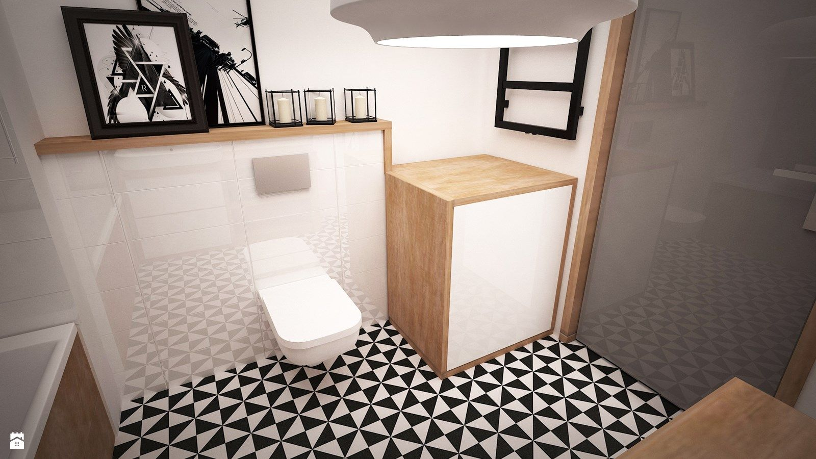 łazienka Styl Eklektyczny Zdjęcie Od Ada Wrońska