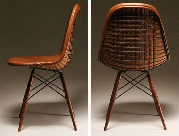 Eames Chair Leather charles and ray eames herman miller dkw chair, 1950s | andre