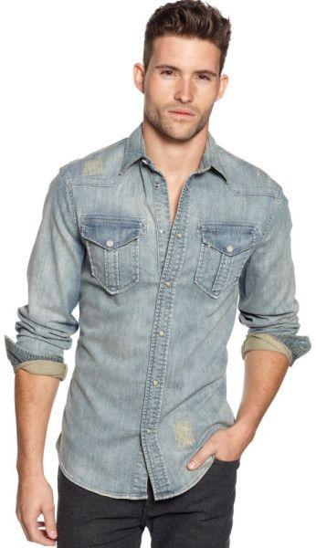 3b625dc6244 Jeans Vintage Stretch Denim Shirt in Blue for Men (denim) - Lyst