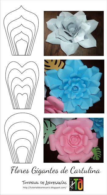 Flores Gigantes De Papel Com Molde Para Imprimir Criativo