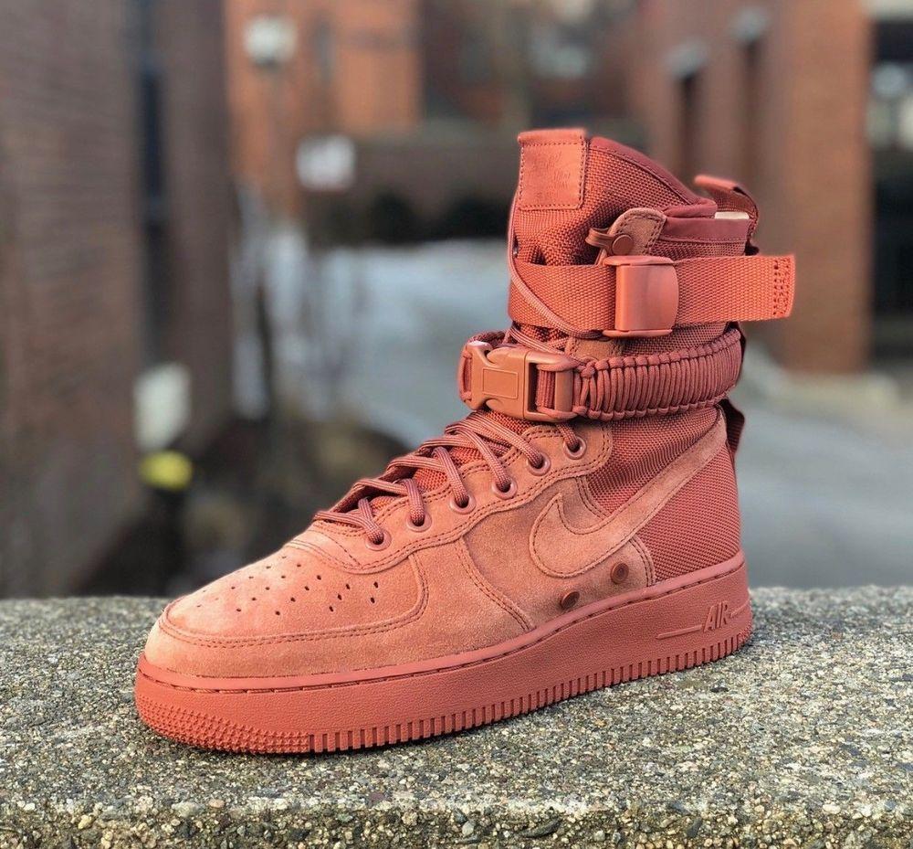 Quot Dusty Peach Quot Nike Air Force 1 Sf Ebay Nike Nike Air Force Peach Shoes
