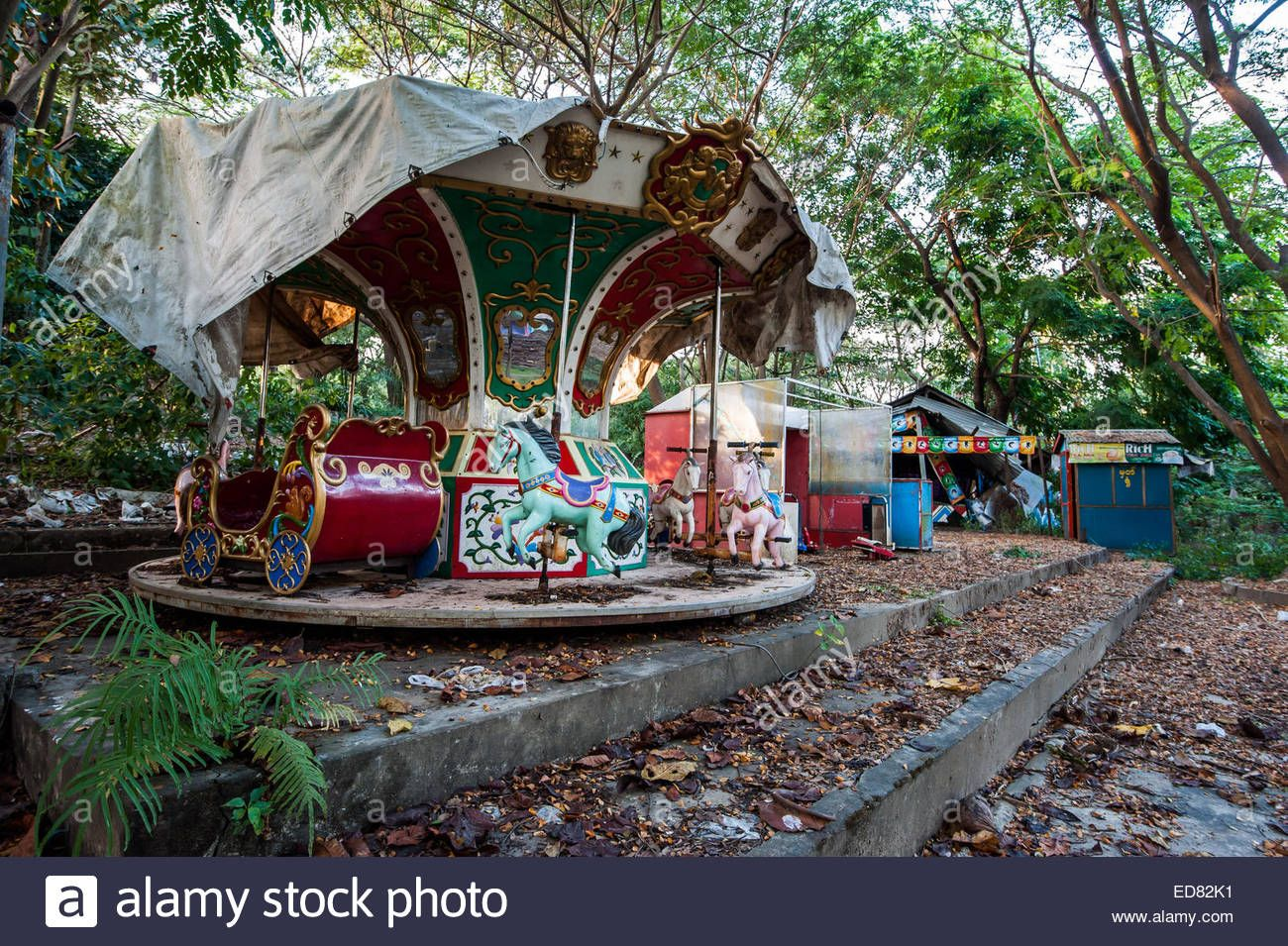 Disused Carousel At Yangon Abandoned Amusement Park Stock Photo Royalty Free Image 77009717 Abandoned Theme Parks Abandoned Places Abandoned Amusement Parks