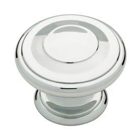 Motiv 1-3/8-in Polished Chrome Geometric Round Cabinet Knob ...