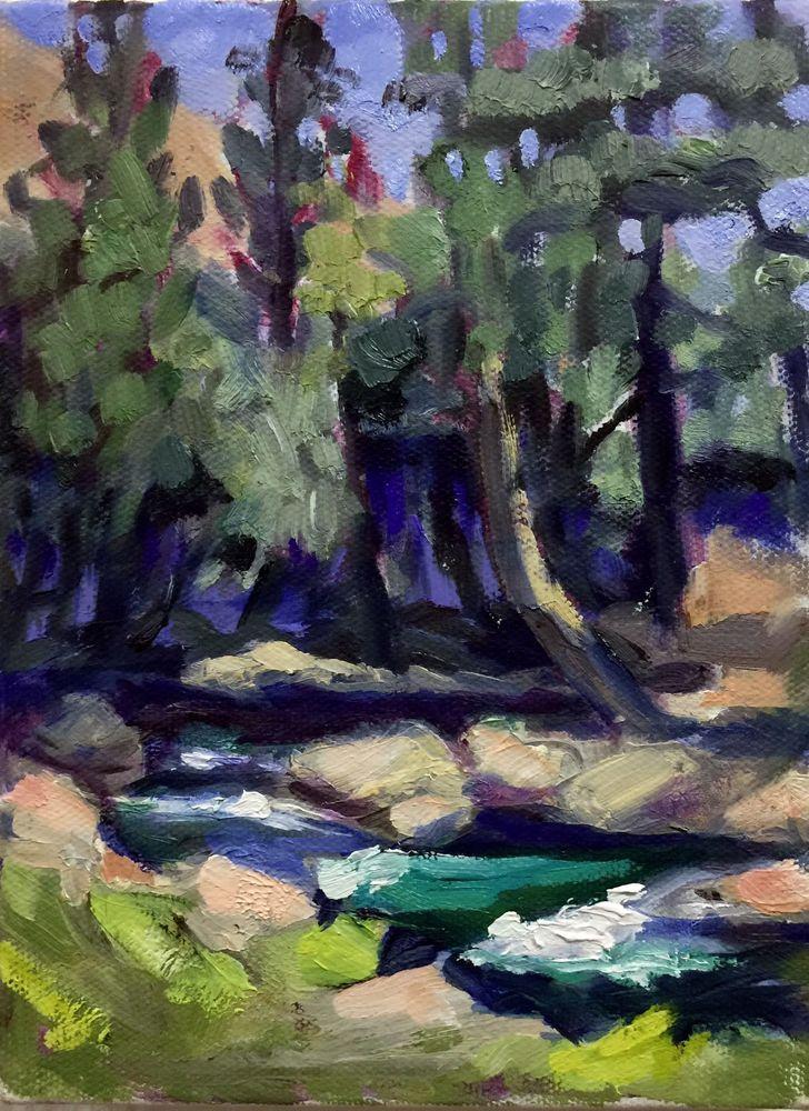 Art Oil Painting Impressionism Eastern Sierras Calif. ANN BRIDGES Listed Artist #Impressionism