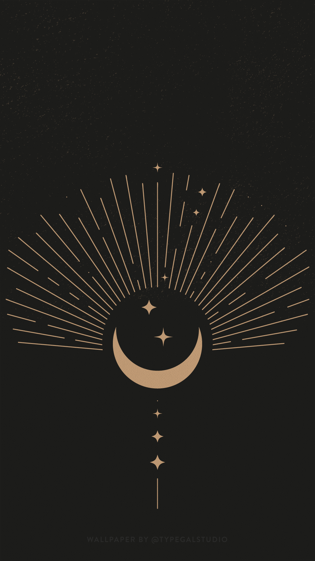 Celestial Phone Wallpaper By Typegal Com Moon Stars Art Phone Wallpaper Wallpaper