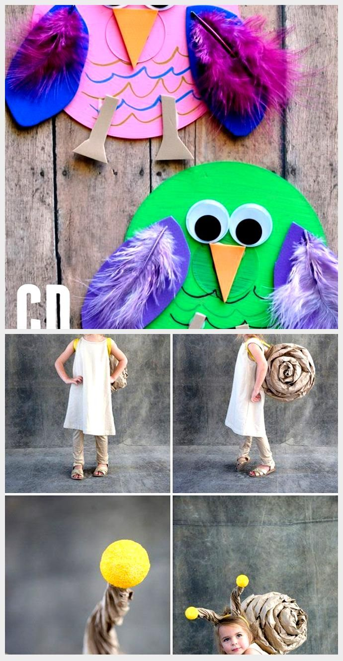 Recycled CD Owl Craft for Kids,  #Craft #kids #Owl #Recycled #recycledcd